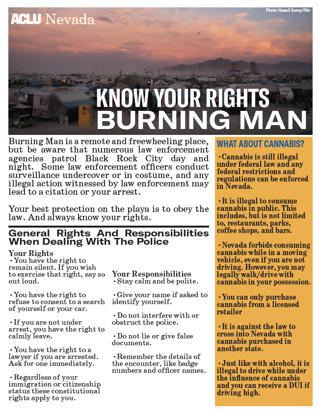 Burning Man Know Your Rights