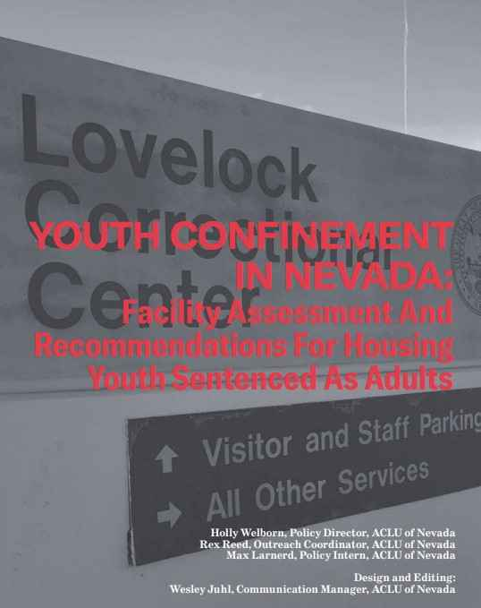 Youth Confinement in Nevada report cover