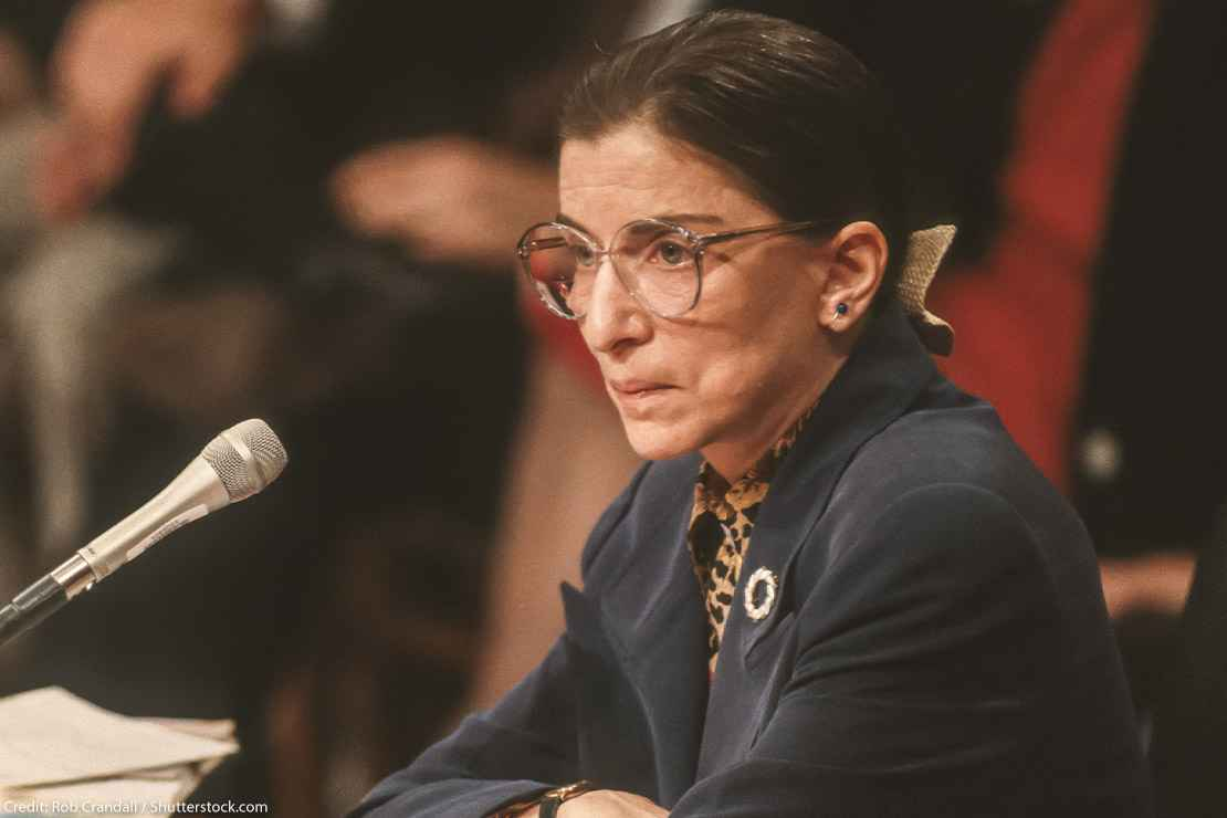 Ruth Bader Ginsburg during confirmation hearings for the US Supreme Court, 1993