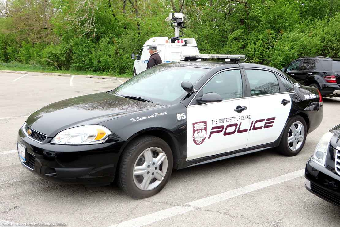 A University of Chicago police car.