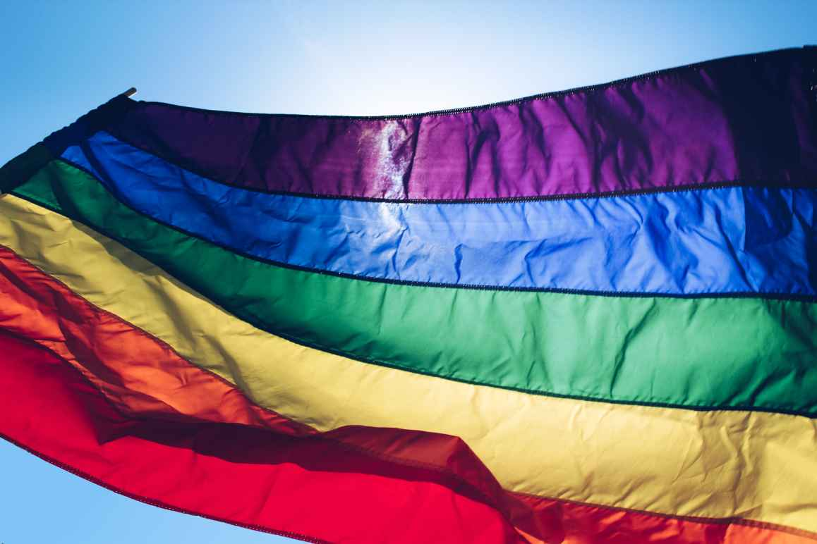 LGBTQIA rainbow flag