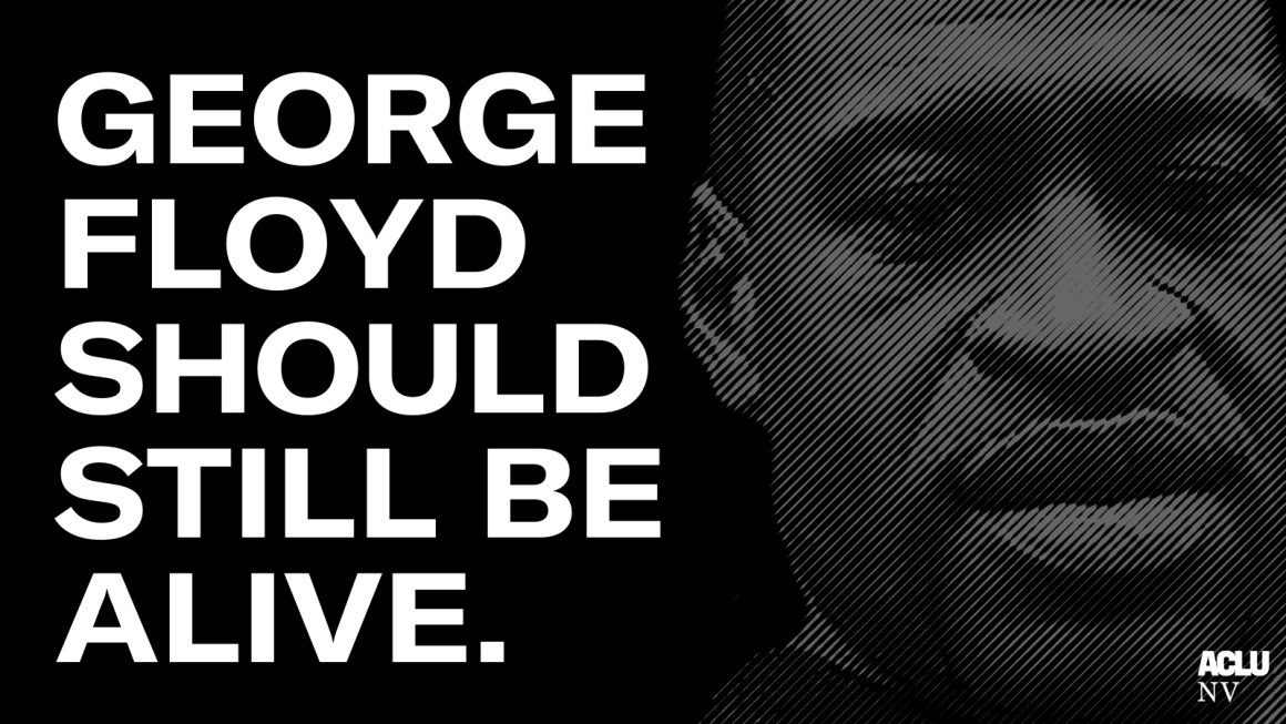 """An image of George Floyd with the words """"George Floyd should still be alive"""""""