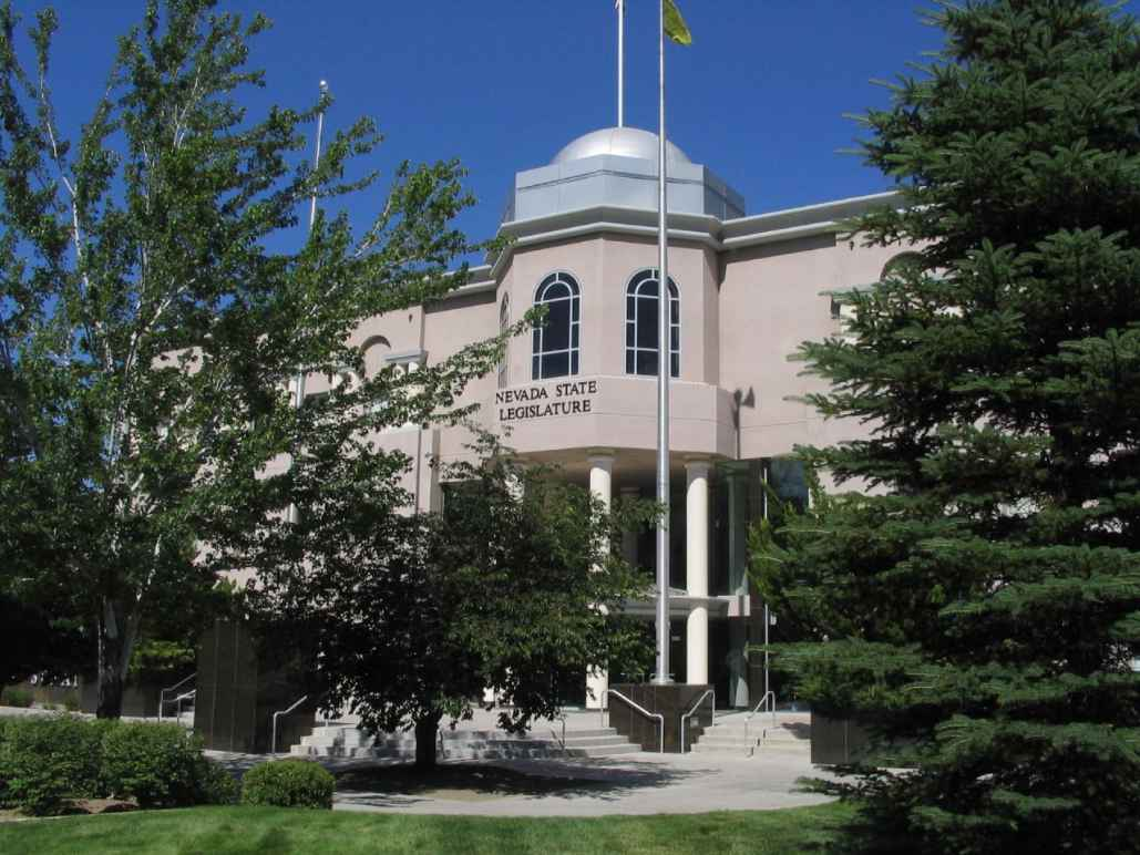Photograph of the Nevada Legislature building in Carson City