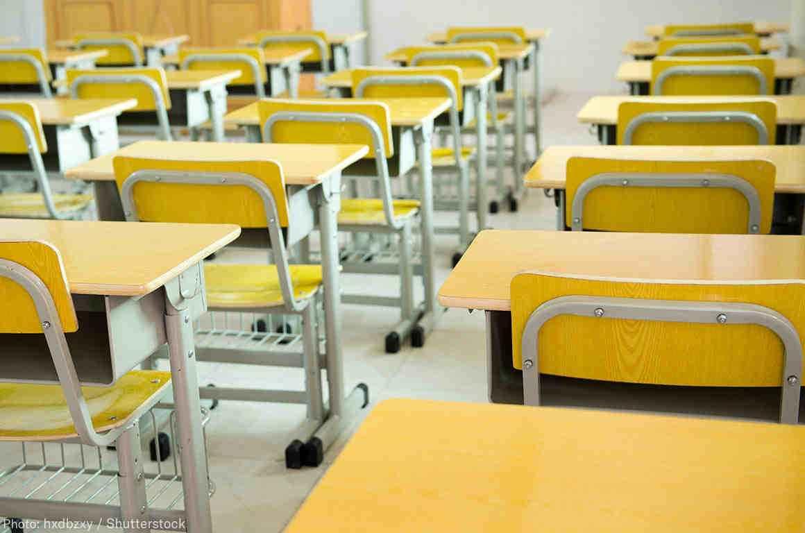 yellow desks