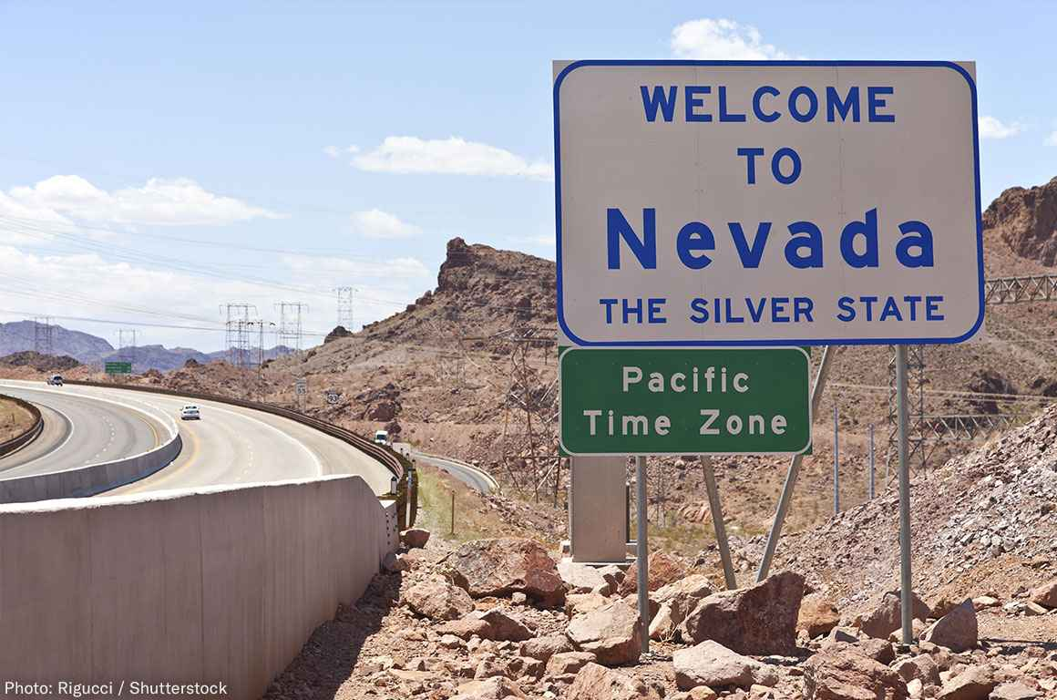 Nevada Welcome Sign