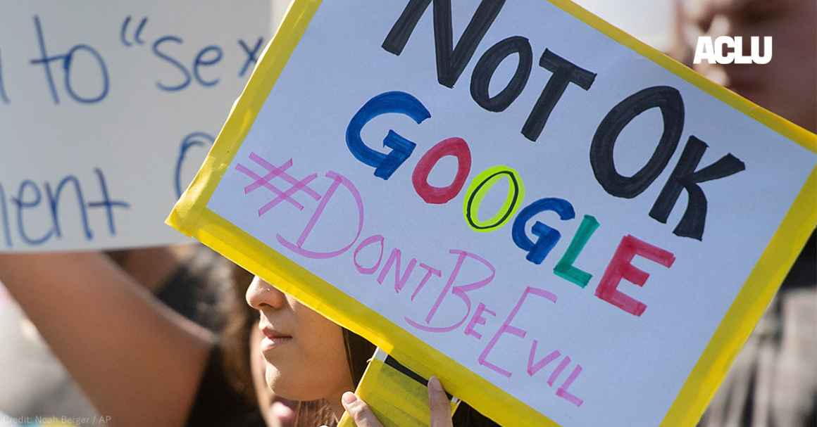 Workers protest against Google's handling of sexual misconduct allegations