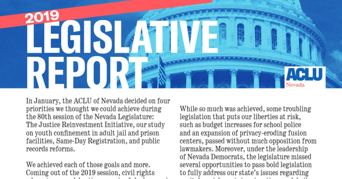 Thumbnail image of legislative report cover